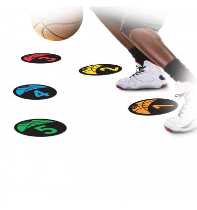 Set de 5 disques numérotés d'entrainement basket