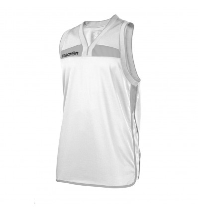 Vareuse de basket Arsenic Macron blanc/gris