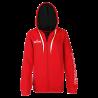 Sweat à capuche féminin Spalding TEAM II 4Her rouge