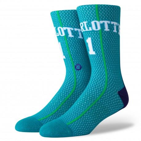 NBA HWC de Muggsy Bogues Charlotte Hornets socks