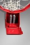 Basketball hoop with springs