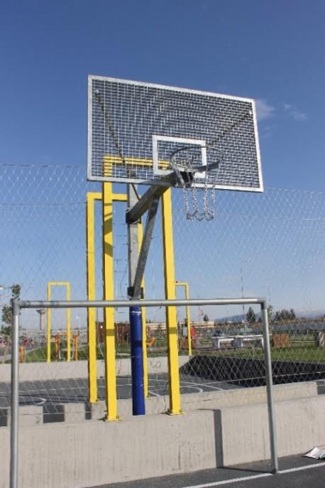 Vandal proof basketball system