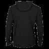 T-shirt manches longues Street à capuche Spalding gris anthracite/jaune fluo