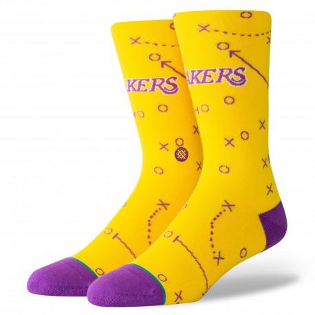 NBA Playbook Los Angeles Lakers socks