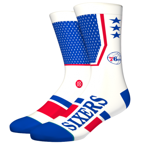 NBA shortcut Philadelphia 76ers socks