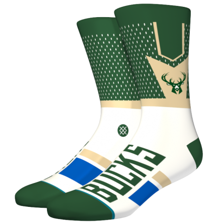 NBA Shortcut Milwaukee Bucks socks