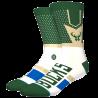 Chaussettes NBA Shortcut des Milwaukee Bucks