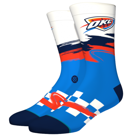 NBA Wave Racer OKC Thunder socks
