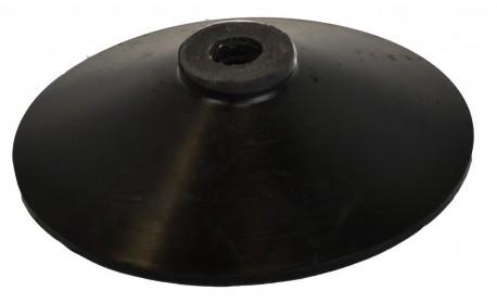 Heavy rubber base for plastic sticks