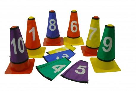 Lot de 10 caches numérotés pour cones