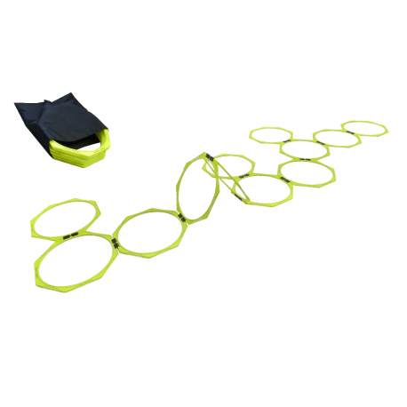 Set of 12 octogonal hoops