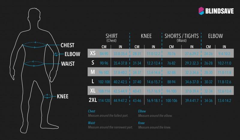 collant a compressione imbottiti, collant da basket Blindsave collant 3//4 con imbottitura al ginocchio