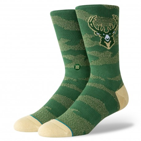NBA Camo melange Milwaukee Bucks socks