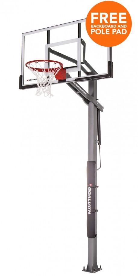 60' IGNITE Goaliath inground basketball hoop