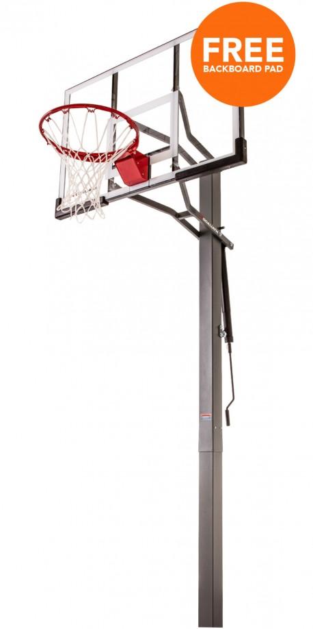50' Warrior Goaliath inground basketball hoop