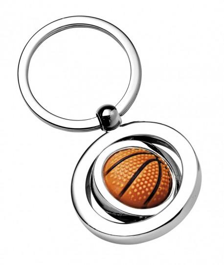 Porte-clé ballon de basket en métal