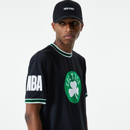 T-shirt applique oversized NEW ERA Boston Celtics noir