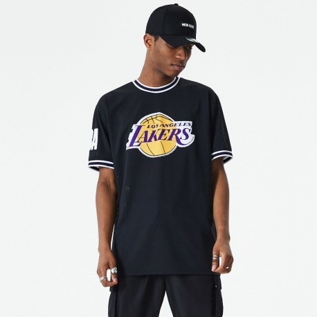 T-shirt applique oversized NEW ERA Los Angeles Lakers noir