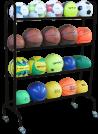 Mobile basketball balloon rack