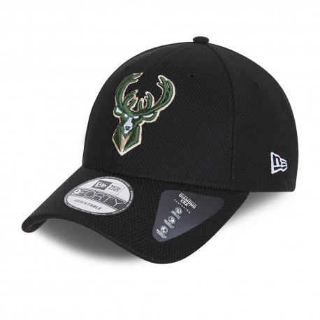 Casquette New Era 9Forty Diamond des Milwaukee Bucks