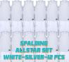 Set complet de jeux de maillot de match Allstar blanc/gris