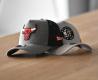 Chicago BullsBrooklyn Nets essential grey A-Frame trucker cap