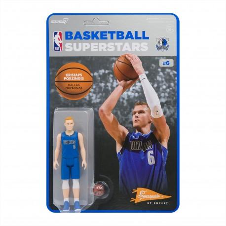 Super7 NBA Dallas Mavericks Kristaps Porzingis figure
