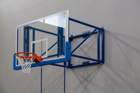 Wallmounted indoor basketball backboard