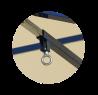 blocage en position de jeu - déblocage pour repli par manette spéciale