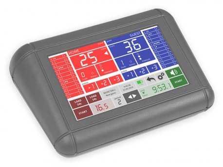 User-friendly basketball touchscreen console