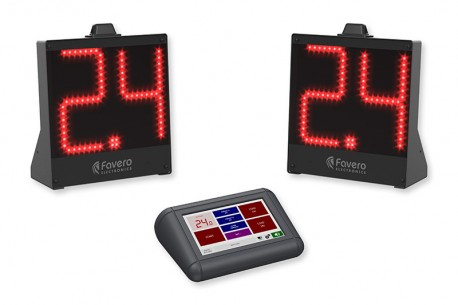 kit of Floor wireless 14-24 second shot clock display