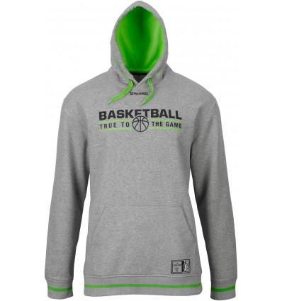 Sweat à capuche équipe SPALDING grey/green