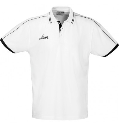 Polo manches courtes Spalding white/black