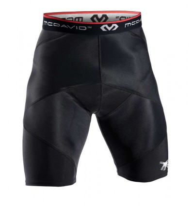 Short de contention pour adducteurs Cross Compression MC DAVID noir